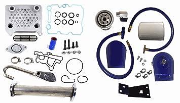 Powerstroke 6.0 Ford Diesel EGR Borrar filtro de líquido refrigerante Kit 03 – 07 Turbo filtración