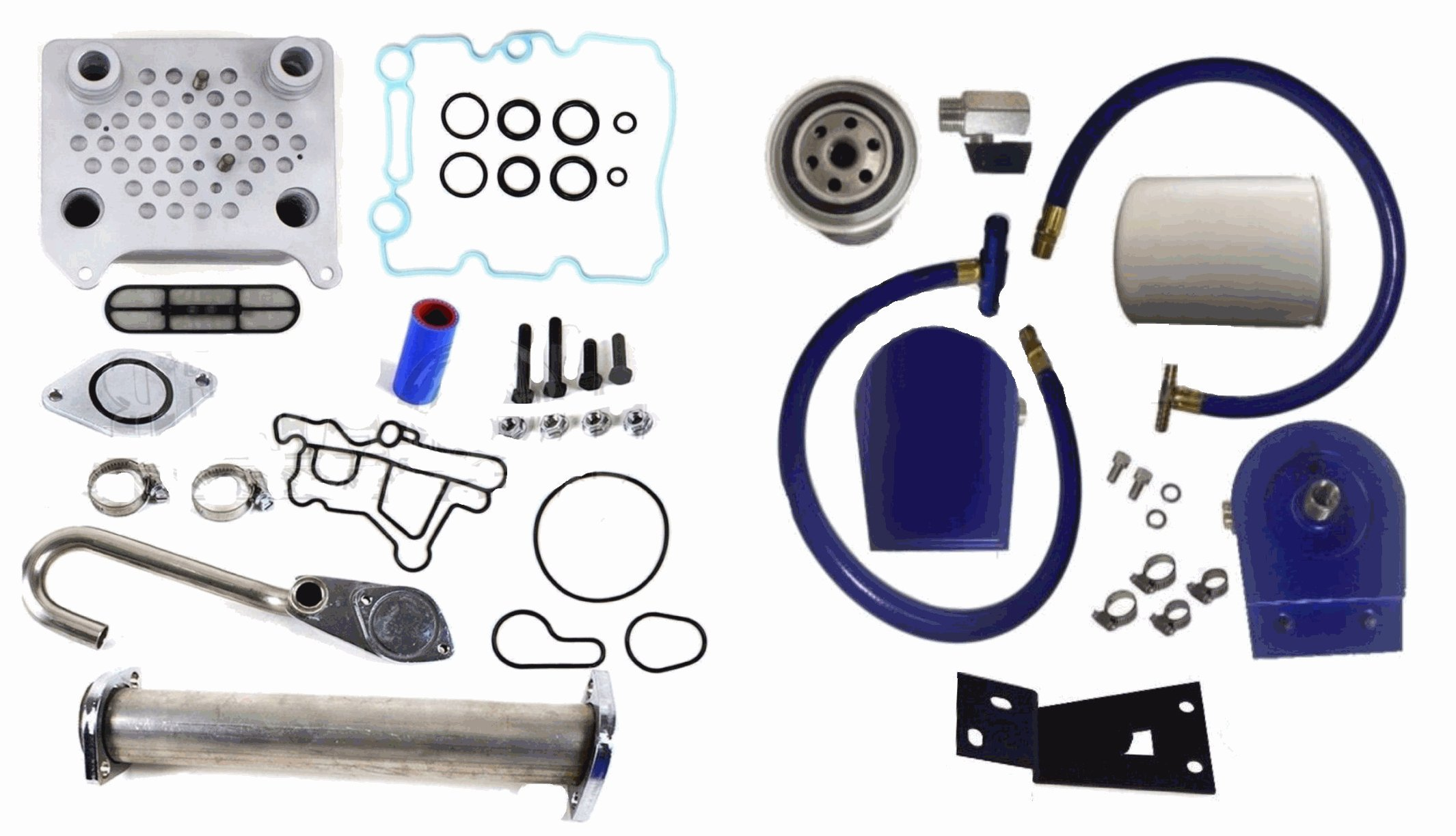 Ford Powerstroke EGR Complete Kit Coolant Filter Diesel 6.0L 2003-2007 Cooler by Auto Express