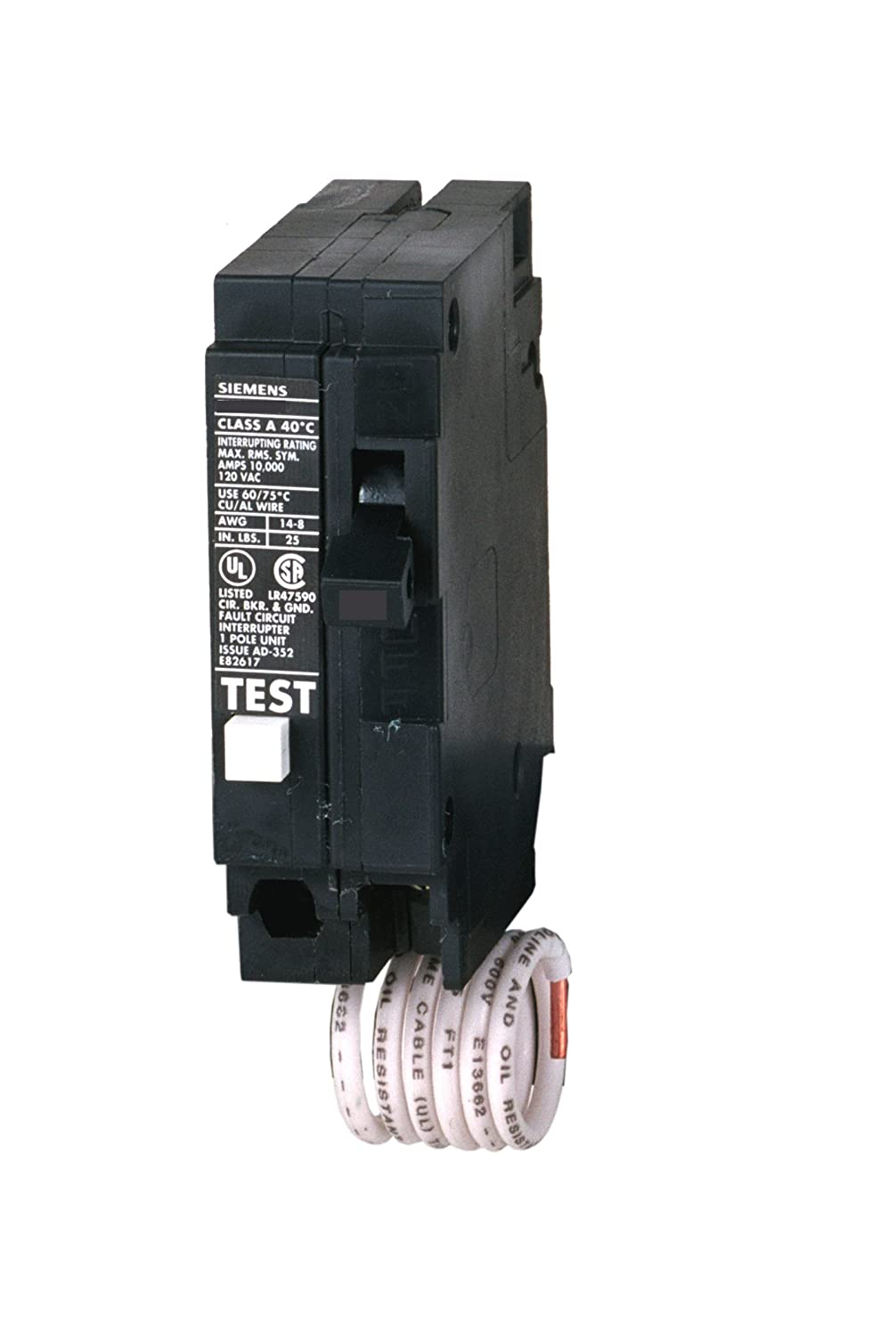 Siemens QE120H 20-Amp Single Pole 120-Volt Group Fault Equipment Protection Circuit Breaker Siemens HI