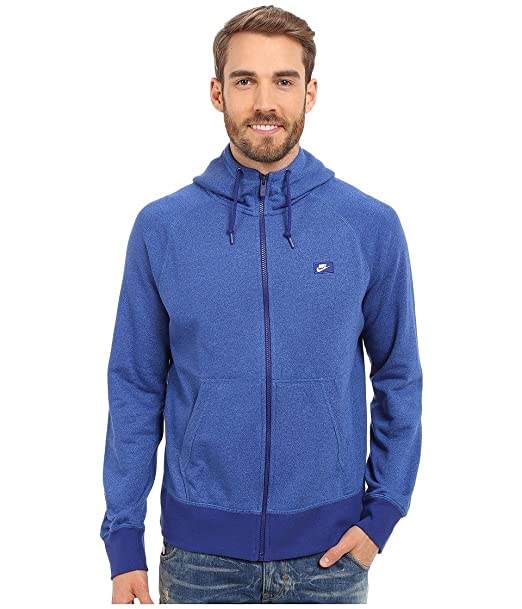 6d0432a722c0 Nike Men s AW77 Shoebox Full-Zip Hoodie Deep Royal Blue Light Photo Blue Heather  MD  Amazon.ca  Clothing   Accessories