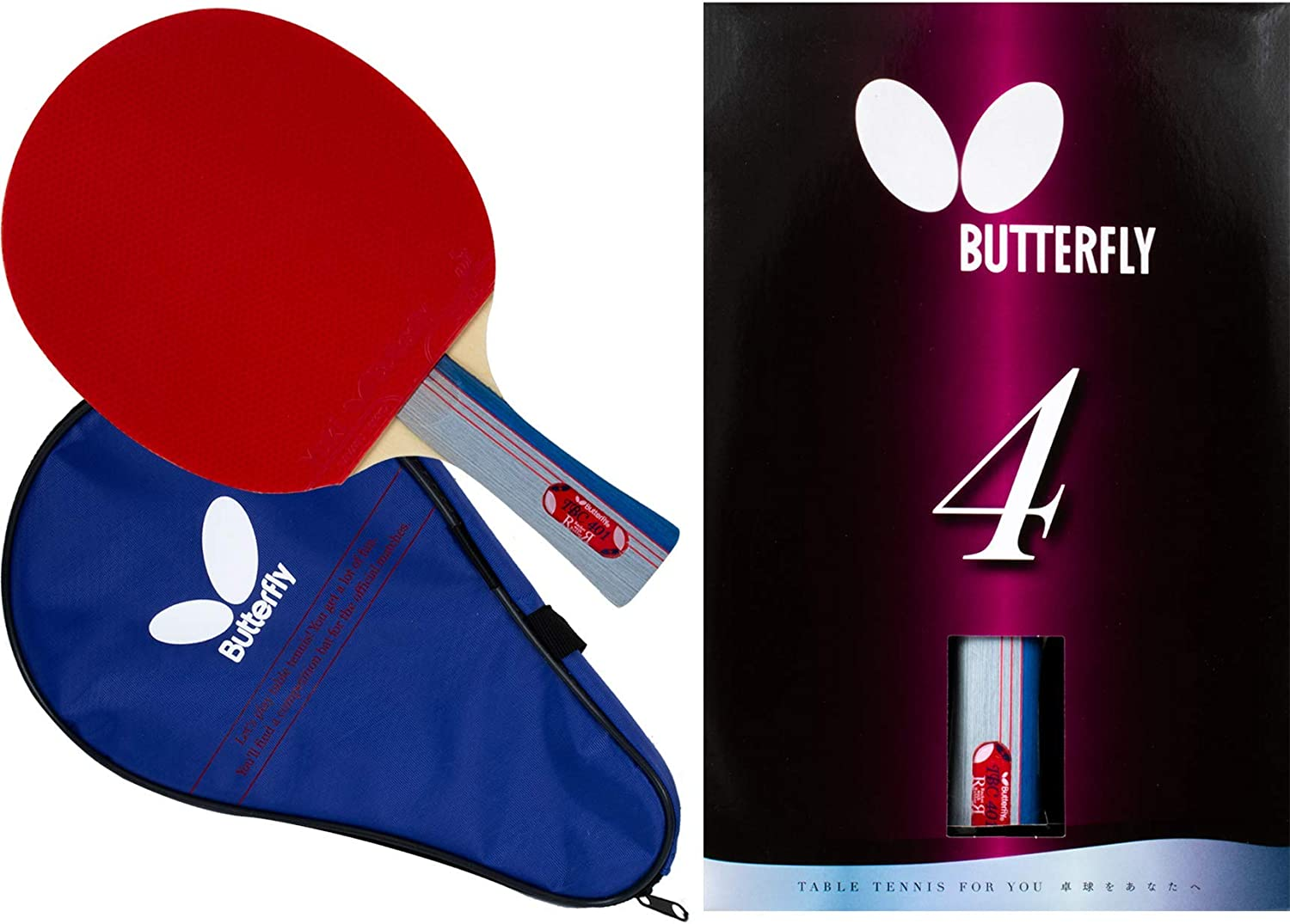 Butterfly 401 Table Tennis Racket Set - 1 Ping Pong Paddle – 1 Ping Pong Paddle Case - ITTF Approved Table Tennis Paddle - Ships in Ping Pong Racket Gift Box : Beginner Table Tennis Rackets : Sports & Outdoors