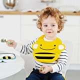 Skip Hop Zoo Fold & Go Silicone Bib, Yellow Bee