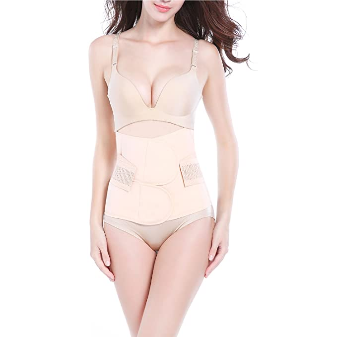 a3c9821723 Trendyline Women Postpartum Girdle Corset Recovery Belly Band Wrap Belt  Nude Small