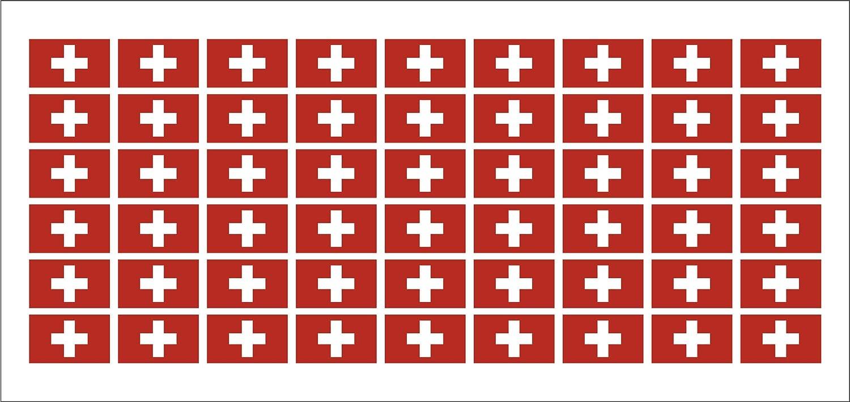 Mini Aufkleber Set Pack Glatt 20x12mm Sticker Swiss Schweiz Flagge Banner Standarte Fürs Auto Büro Zu Hause Und Die Schule 54 Stück Modellbau Auto Bürobedarf Schreibwaren