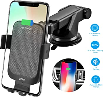 Acumen 15W Qi Fast Charging Automatic Wireless Car Charger Mount