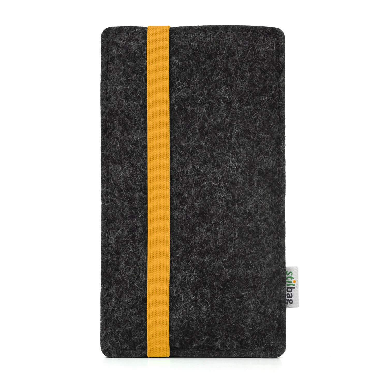 Cubierta Protectora para m/óvil Bolsa de Fieltro para Smartphone Color: Amarillo//Antracita stilbag Funda Leon para Xiaomi Mi A2 Cajas para m/óvil Made in Germany