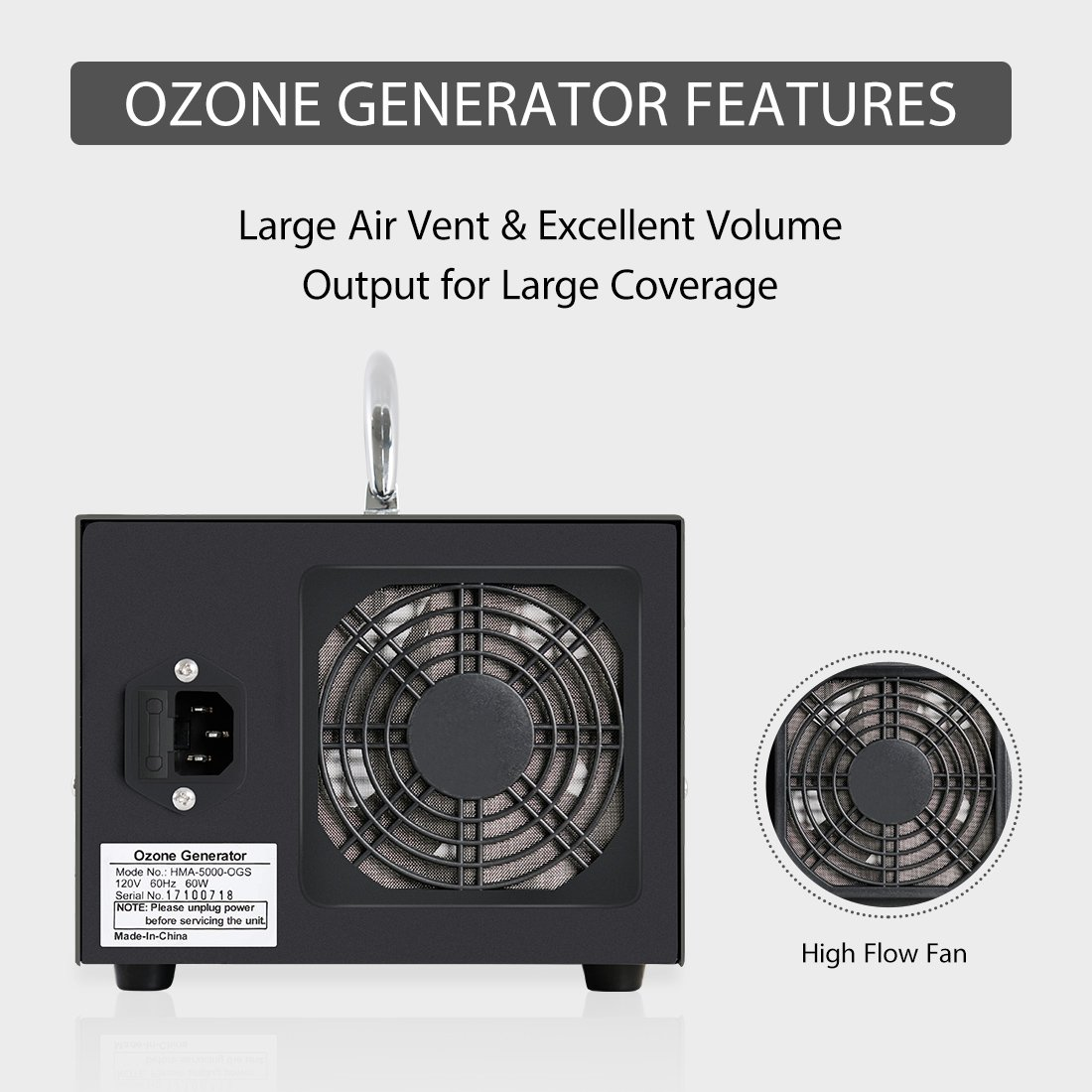 VIVOHOME Commercial 5000mg/h Ozone Generator O3 Industrial Air Purifier by VIVOHOME (Image #6)