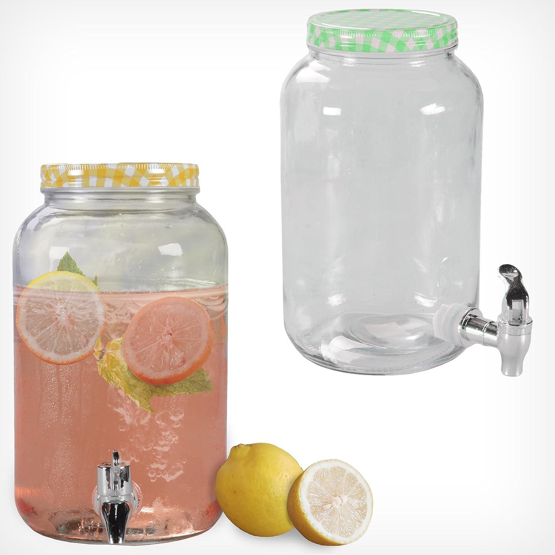 Getränkespender mit Hahn 3L 7L Glas Landhaus Dispenser Getränke ...