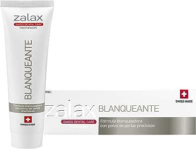 ZALAX BLANQUEANTE Pasta de dientes blanqueamiento - Ayuda a eliminar las manchas y prevenir su aparición – Pasta dental blanqueadora con polvo de perlas preciosas-100 ml (PACK DE 1): Amazon.es: Salud y