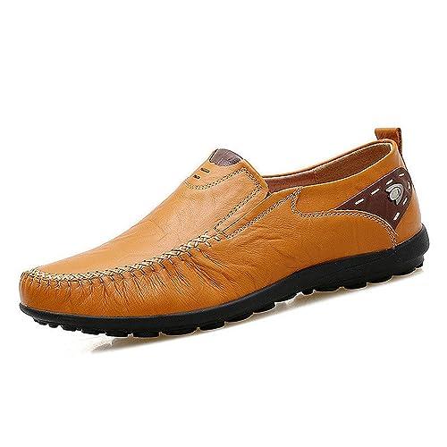 Botia Mocasines para Hombres Mocasines de Cuero Suave Zapatos Casuales Hechos a Mano Mocasines Zapatos Planos de Cuero Cómodos: Amazon.es: Zapatos y ...