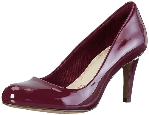 Carlita Cove, Zapatos de Tacón Para Mujer, Morado (Plum Patent), 39.5 EU Clarks