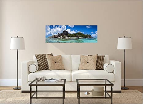 48 Panoramic Nature Scape Series Remote Private Tropical Island 1 Wall Graphic Sticker Decal Home Kids Game Room Office Landscape Art Mural New Kitchen Dining