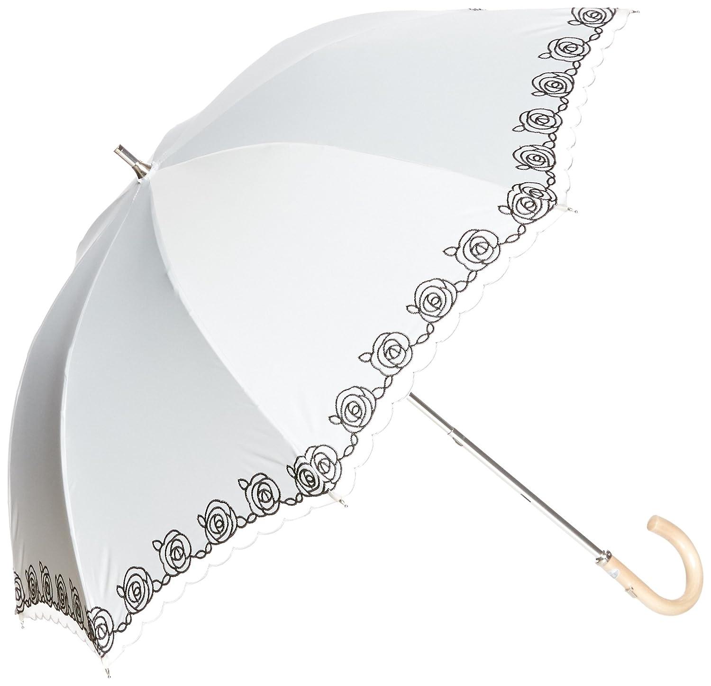 (ムーンバット) MOONBAT ランバンコレクション ショート傘(遮熱&遮光) 軽量 晴雨兼用傘 KOKAGEMAX×オーガンジーバラ刺繍 B07872M5C6 日本 親骨の長さ47cm-(FREE サイズ)   日本 親骨の長さ47cm-(FREE サイズ)