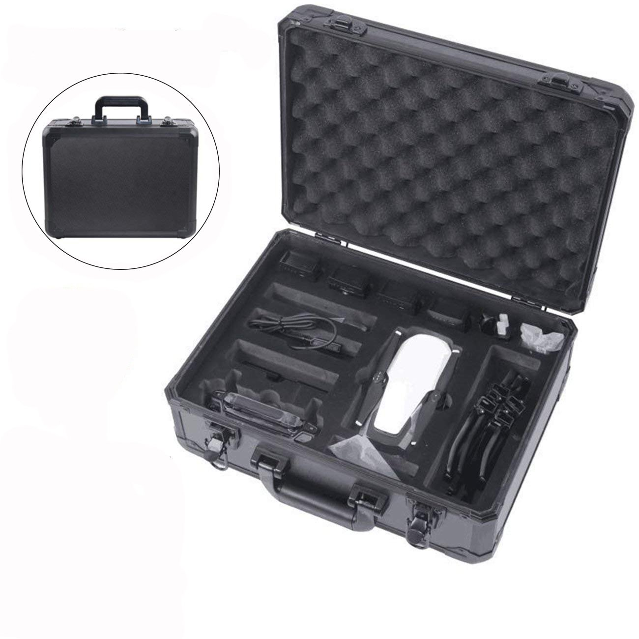 Hobby-Ace DJI Mavic Air Drone Carrying Case,Aluminum Protective Hardshell Waterproof case for DJI Mavic Air Drone and Accessories