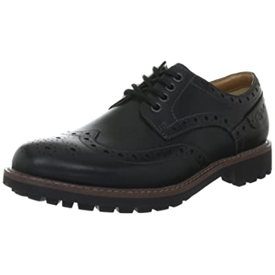 Clarks Mens Montacute Wing Black Shoes, 9.5 G UK / 10.5 D(M) US | Loafers & Slip-Ons