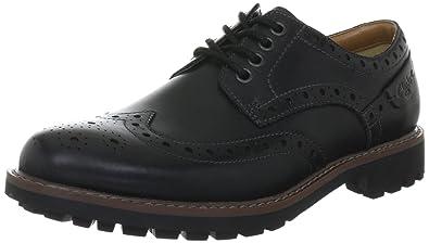 Clarks Montacute Wing 203510927060, Chaussures basses hommeNoir-TR-SW702, 39.5 EU