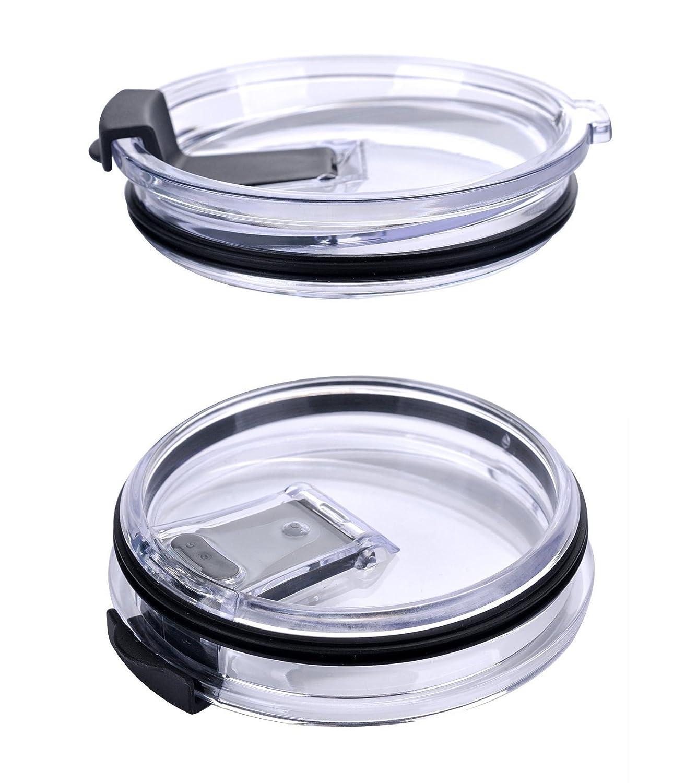 EVERMARKET mango + prueba de salpicaduras Resistente a las salpicaduras tapa de vaso para Yeti Rambler vasos de 30 oz, Rtic, Sic taza Ozark Trail y más vaso ...