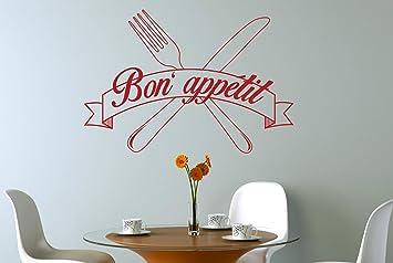 gallery of bon appetit couteau et gens stickers muraux vinyle dcor pochoirs murals moyen hauteur. Black Bedroom Furniture Sets. Home Design Ideas