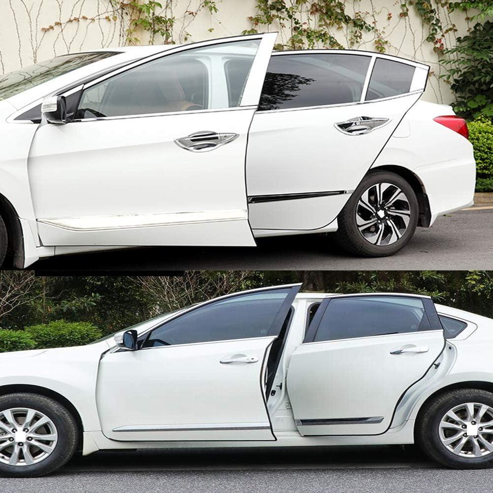 Asdomo Protection de bord de porti/ère de voiture en caoutchouc 5 m en forme de U pour voiture universelle Blanc 5 m