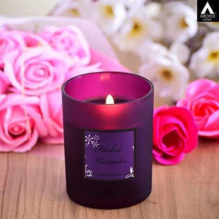 archies Scented Candle with a Refreshing Fragrance in a Glass jar (8.5x8.5x8.5) 1 PC