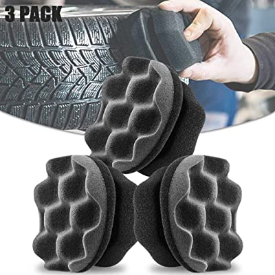 3 Pack Tire Shine Applicator Ergonomic Design Chemical Guys Tire Brush Tire Dressing Applicator Pad Durable, Keeps Tires Shine, Reusable and Washable, Perfect for Tire Detailing (Color 1): Kitchen & Dining