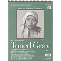 """Strathmore 400 Series Toned Gray Sketch Pad, 412-111, Paper, Gray, 11""""x14"""""""