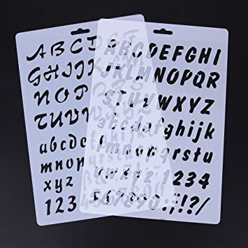 Hauteur des lettres 2,5 cm Lettres majuscules Pochoir stencil format A5