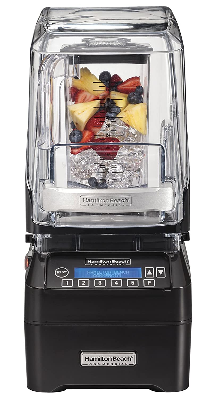 Hamilton Beach Commercial HBH750 The Eclipse Blender, 3 hp, Quietblend Technology, 48 oz./1.4 L Polycarbonate Container, 18.5