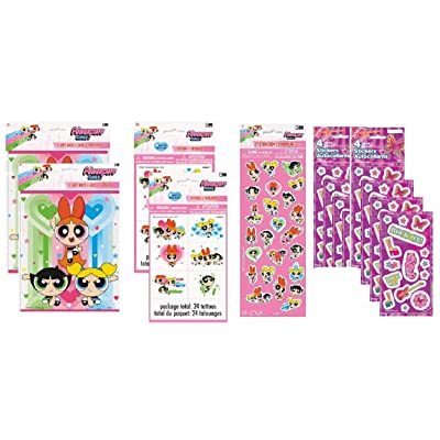 Powerpuff Girls Birthday Party Favor Bundle Pack for 16 includes Loot Bags, Tattoos, Stickers: Toys & Games