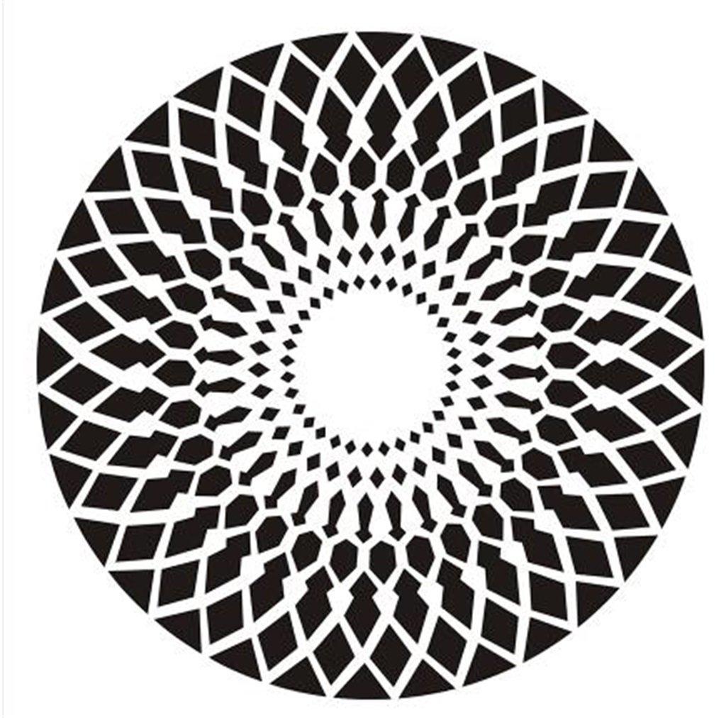 Nordic Einfache moderne Mode Geometrische Teppich Wohnzimmer Schlafzimmer Nachttisch Teppich Studie Computer Stuhl Runde Teppich (Schwarz-Weiß-Muster) (größe   Diameter 180cm)