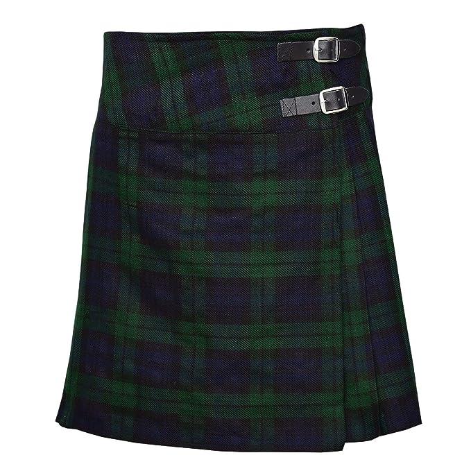 Ladies Knee Length Kilt Skirt 20 Length Tartan Pleated