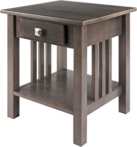 Winsome Stafford End Table, Oyster Gray