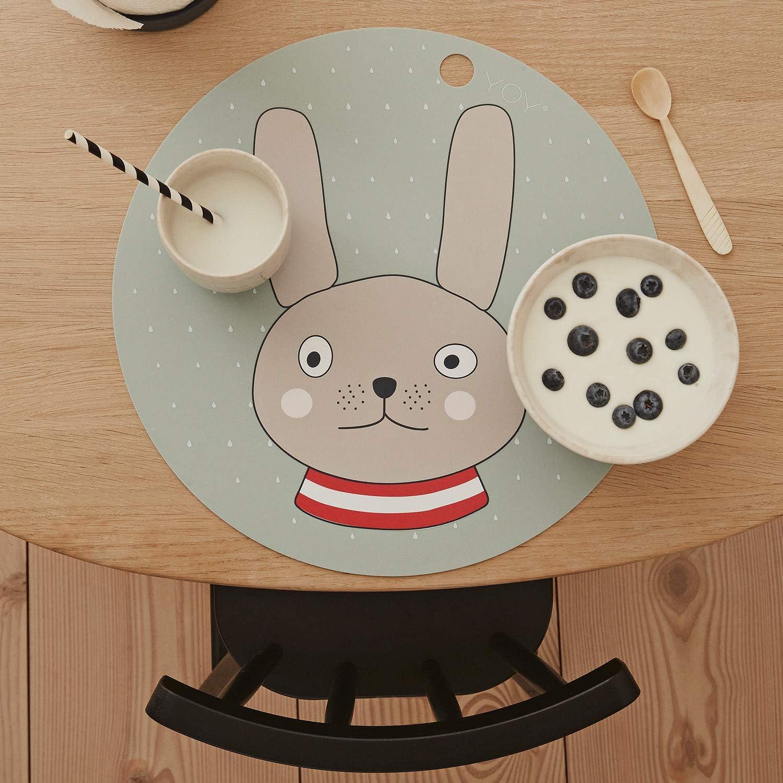 Salvamanteles para beb/é OyOy 1100956 Adventure Placemat lavable, 100/% silicona, di/ámetro de 39 cm