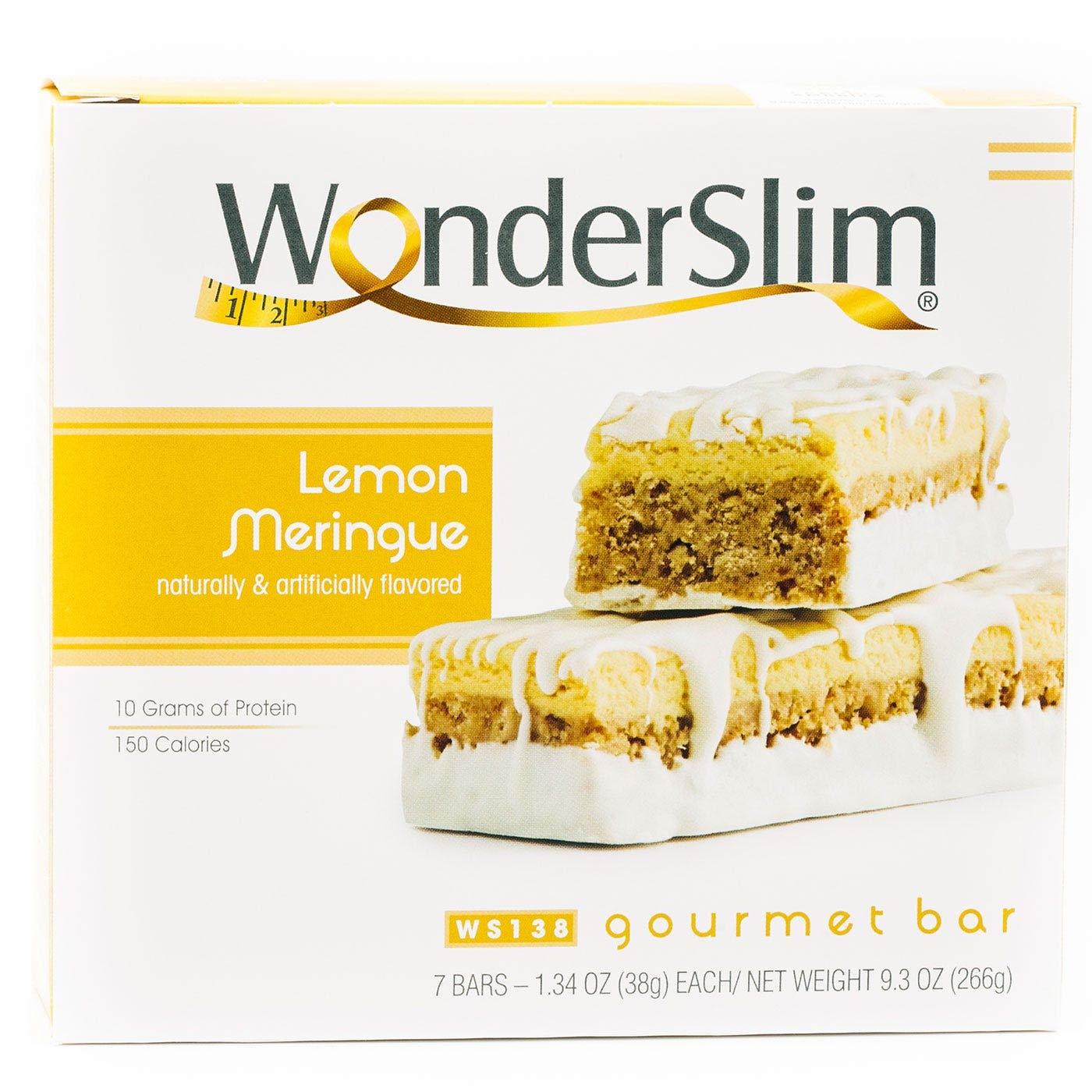 WonderSlim Gourmet High Protein Bar/Diet Bars with 10g Protein - Trans Fat Free, Cholesterol Free, Lemon Meringue (7 Count)