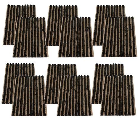 AERZETIX: Juego de 120 mechas 4mm 10cm Negro para Kit de reparacion de neumaticos C40655