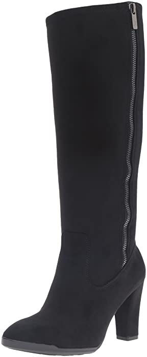 Anne Klein Women's Elek Suede Winter Boot, Black, Size 5.0