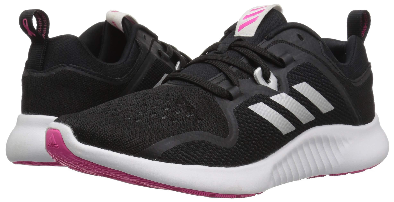 adidas Women's EdgeBounce Running Shoe, Black/Silver Metallic/Shock Pink, 5 M US by adidas (Image #5)