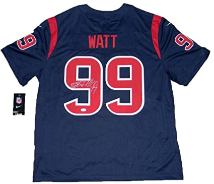 new style 374ee e4aae Signed J.J. Watt Jersey - Jj #99 Nike Limited Color Rush ...