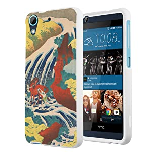 HTC Desire 626s Case, HTC Desire 626 Case, Capsule-Case Slim Fit Snap-on White Hard Case for HTC Desire 626s / HTC Desire 626 - (Yoshino Waterfalls)