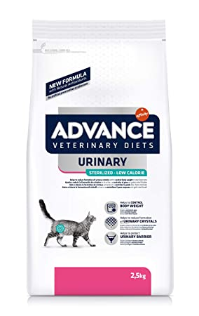 Advance Veterinary Diets Urinary Low Calorie Pienso para Gatos - 2500 gr: Amazon.es: Productos para mascotas
