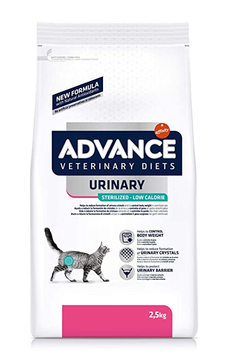 Advance Veterinary Diets Urinary Low Calorie Pienso para Gatos - 2500 gr