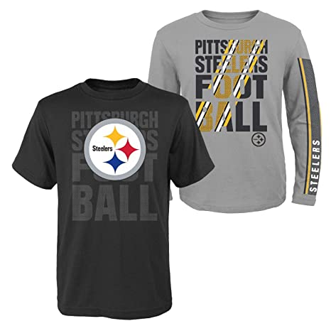 Image Unavailable. Image not available for. Color  Outerstuff Pittsburgh  Steelers Youth NFL Playmaker 3 in 1 T-Shirt ... 45801ef1f