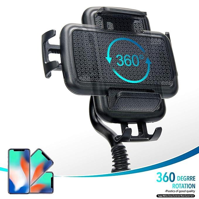 Soporte Móvil Coche, Siroflo Coche Soporte Teléfono Universal para Salpicadero de Vehículo, Sujetar Móvil Coche Hud de Silicona para Iphone X/8/8plus, ...