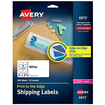 avery print to the edge labels for laser printers 2 x 375