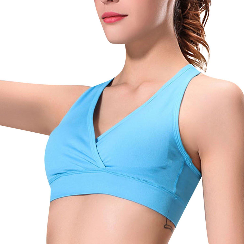 bbc899ba9 newlashua Women s Full Figure Racerback Thin Padded Sleep Yoga Wirefree  Sports Bra at Amazon Women s Clothing store