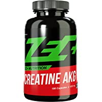 ZEC+ Creatin AKG Kapseln, hochwirksames Kreatin für schnelleren Muskelaufbau mit zusätzlich Alpha-Ketoglutarat für eine bessere Absorption, 180 Kapseln
