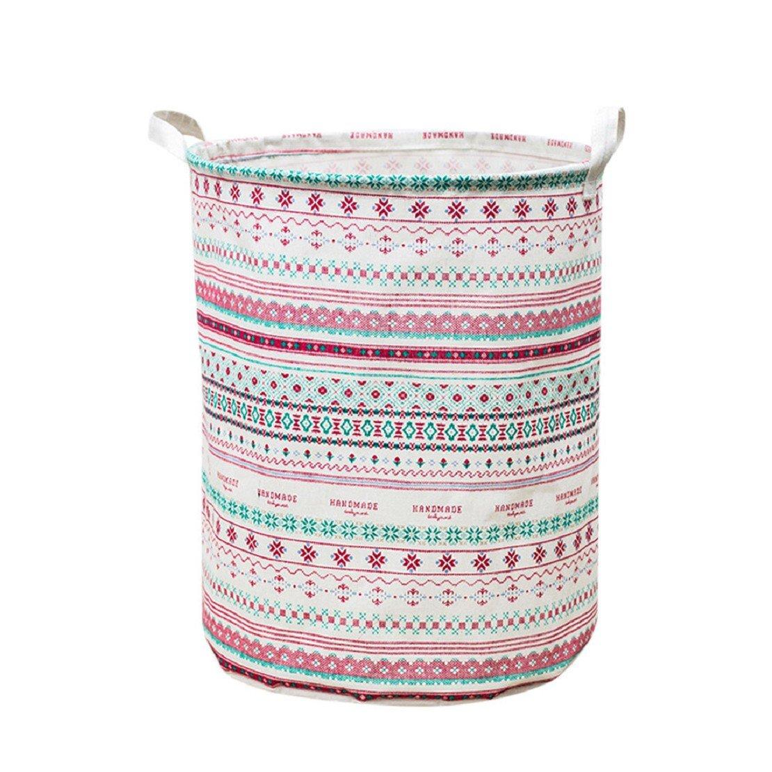 ❤️Amlaiworld Cesta de ropa impermeable del lienzo Cesta de almacenamiento Caja de almacenamiento plegable bolsa de almacenamiento juguetes 42L A, 44 * 35cm