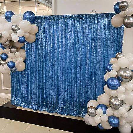 Queendream Pailletten Hintergrund Babyblau 1 2 X 2 4 Kamera