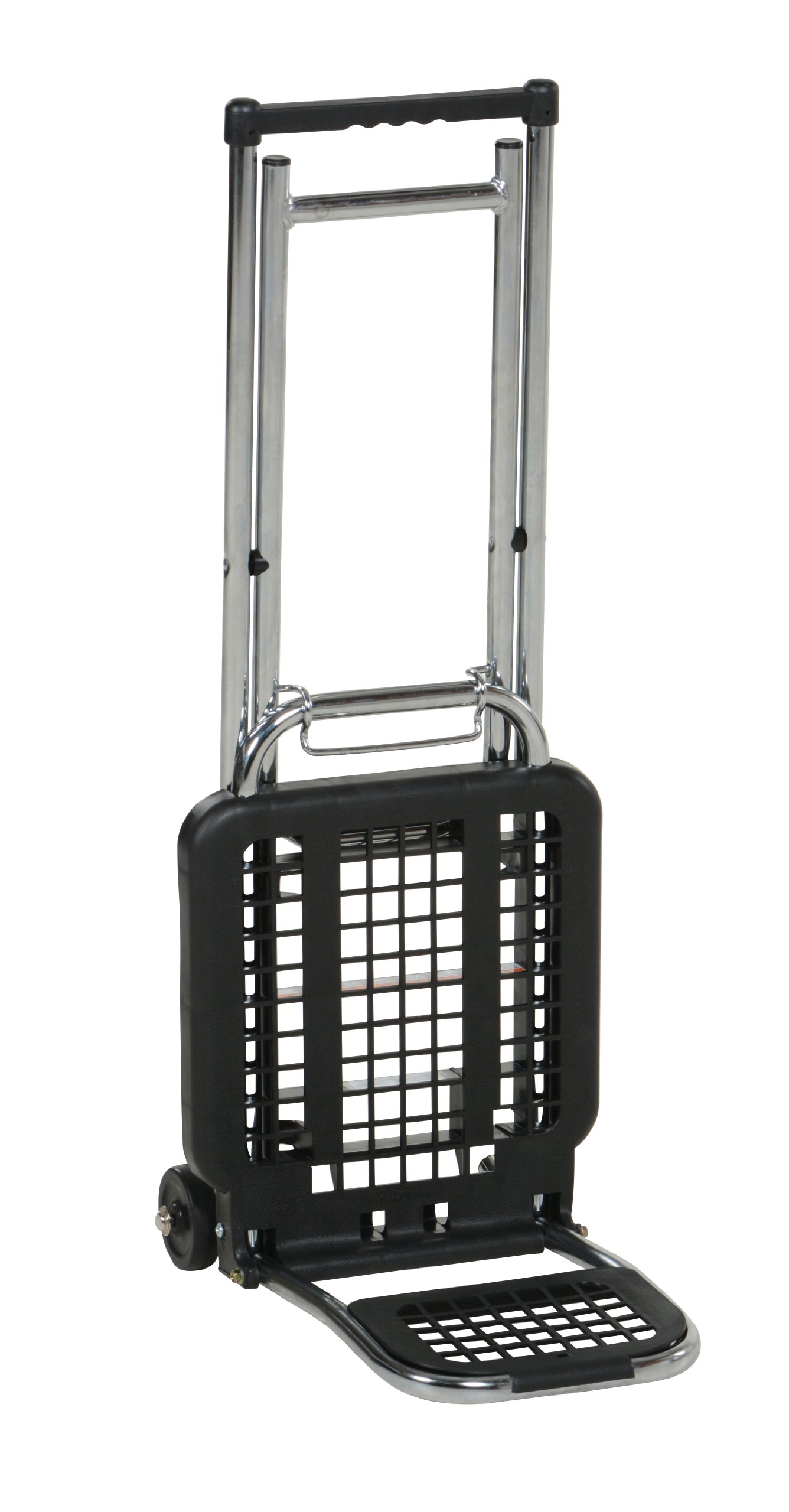 Vestil LC-803 Multi-Function Luggage Cart/Chair, 3'' x 3/4'' Wheel, Chair 65 lbs and Luggage 225 lbs Capacity, Folded 4'' Length x 12'' Width x 36-1/2'' Height