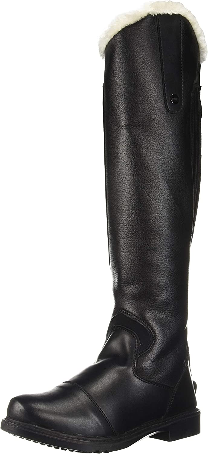TuffRider Women's Tundra Fleece Lined Tall Boots in Synthetic Leather, Black, 7 Slim